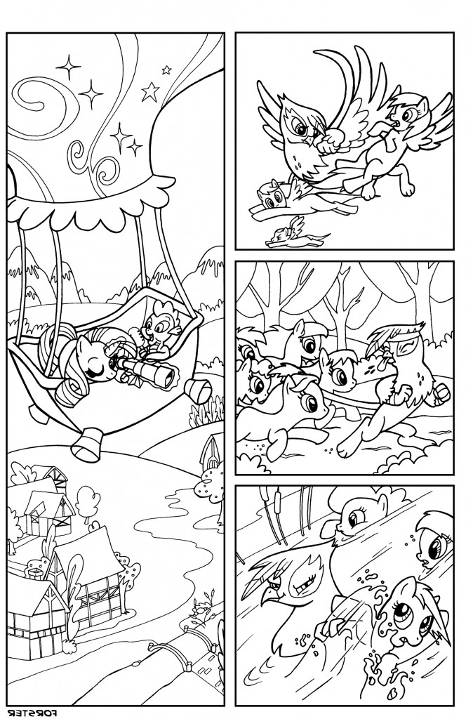 My Little Ponies Coloring Page Hero