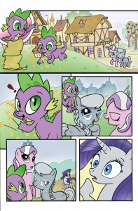 Bill Forster My Little Pony Spike Rarity Diamond Tiara Silver Spoon Comic Book Art