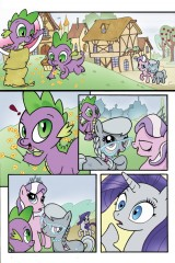 Rarity Spike Diamond Tiara Silver Spoon My Little Pony Comic Artist Bill Forster
