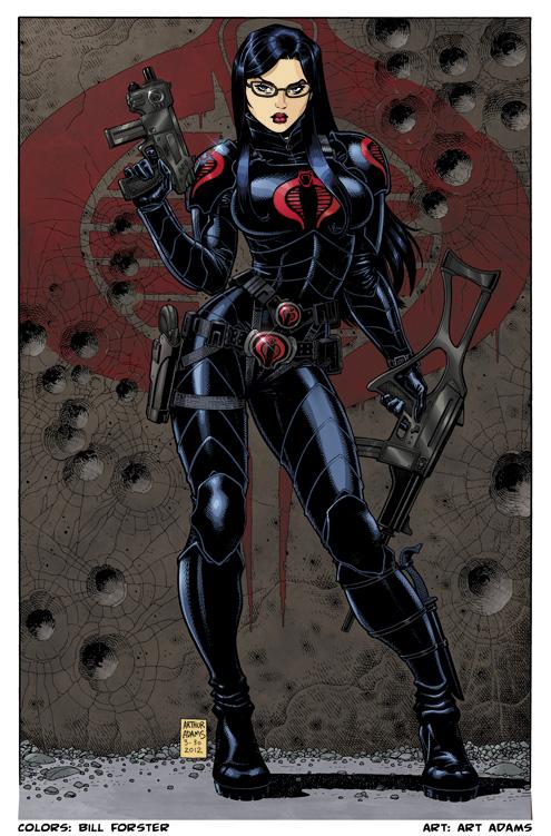 GI Joe Comic Book Coloring Bill Forster Art Blog Baroness