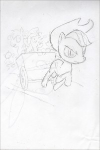 1Applejack sketch comic book art comic artist