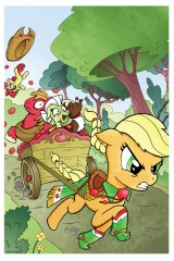 Appplejack Apple Bloom My Little Pony Comic Artist Bill Forster