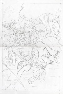 Applejack_MyLittlePony_BillForster_Pencils Comic book art Comic artist