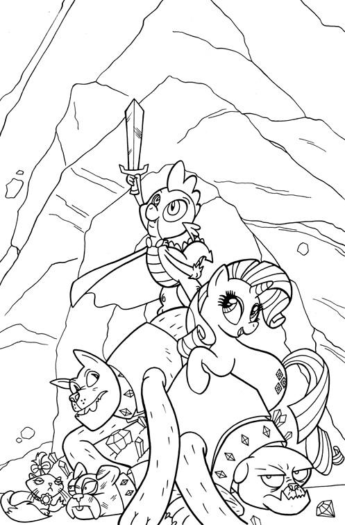 Artwork portfolio bill forster comic art blog for My little pony coloring pages spike