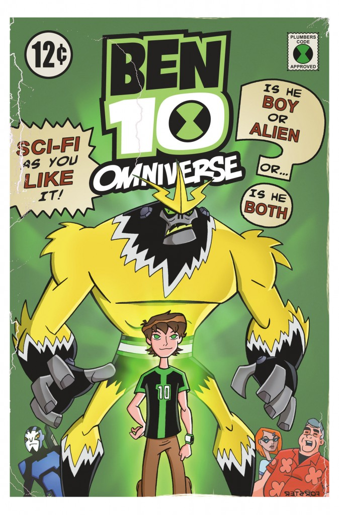 Ben10 Comic Book Art Shocksquatch Bill Forster Cartoon