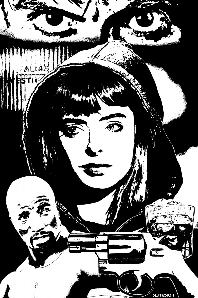 Guns, Booze and Jessica Jones! Marvel comics art