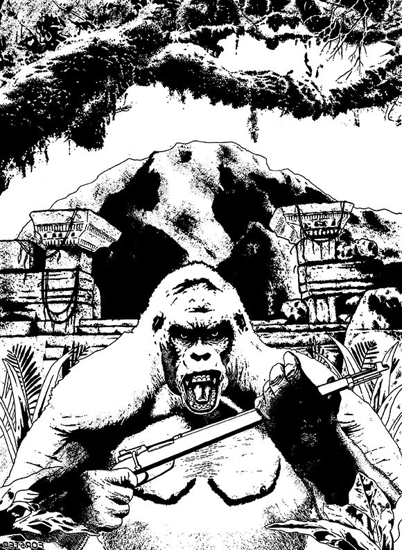White Ape of the Congo INKS
